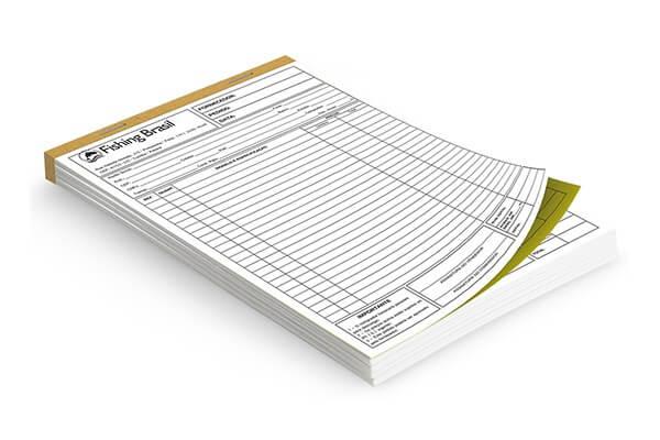 Bloco de Pedido Orçamento Recibo 1 Via Sulfite 90g 7x10cm 4×0 – 100 blocos